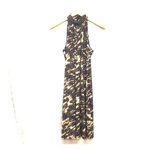 Michael Kors Sz S/P Animal Print  Halter Dress C